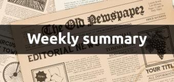 Weekly news summary
